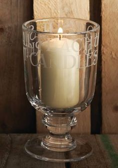 Emma Bridgewater Black Toast Glass Large Storm Lantern