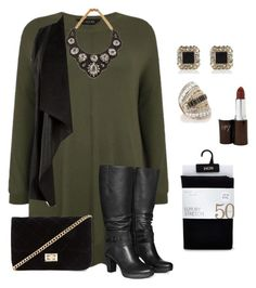 plus size fall/winter chic and edgy by kristie-payne on Polyvore featuring polyvore, fashion, style, Jilsen Quality Boots, Forever 21, Darya London, River Island, Oasis, women's clothing, women's fashion, women, female, woman, misses and juniors