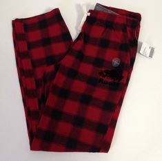 1a851dfcf0027 ROOTS CANADA Women's Elisa Lounge Pants Soft Flannel Red Chalet Plaid Small  New | eBay #ROOTSCANADA #canadian