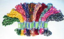 New Threadsrus 100 Skeins of High Quality Variegated Rayon Threads for Hand Embroidery - Assorted Colors