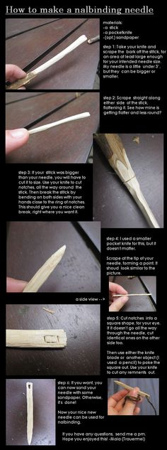 How to make a Nalbinding needle.