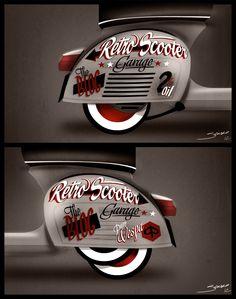 "RETRO SCOOTER GARAGE: RSG #3# Vespa Gt 160 ""Lettering"""