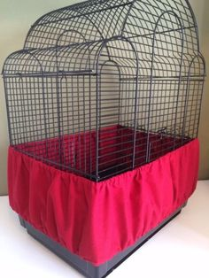 Sheer Guard Bird Cage Covers Red Medium Size