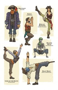 Funny Yoga Illustrations