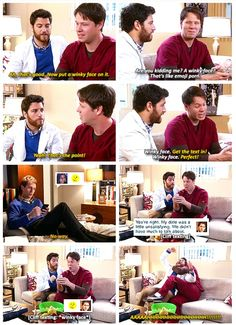 Peter and Morgan are up to no good when they get ahold of Mindy Lahiri's cell and send emoji porn to Cliff. #TheMindyProject #hilarious