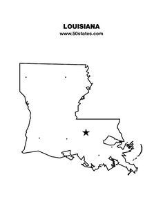 Blank map of Louisiana . Find this map and the other 49 states at http://www.50states.com.