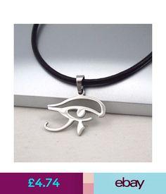 Necklaces & Pendants Egypt Eye Horus Egyptian Stainless Steel Pendant Womens Mens Leather Necklace #ebay #Fashion