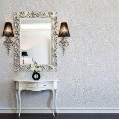 Bold Bright Statement Metallic  Pattern Wallpaper | GLAMOUR PUSS SNOW LEOPARD FEATURE WALL GLITTER WALLPAPER | Buy Online