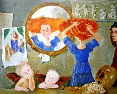 """Евгения Гапчинская - картины, иллюстрации  """"Лиза и ее сны"""""""