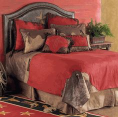 Red Rodeo Bed Set - Queen