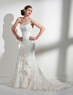 Estella Lace Silk Wedding Dress- Top of dress/ makeup and hair accessory