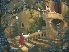 Disney Princess Snow White, Snow White Disney, Arte Disney, Disney Magic, Disney Dream, Disney Love, Snow White 1937, Disney Fine Art, Pinturas Disney