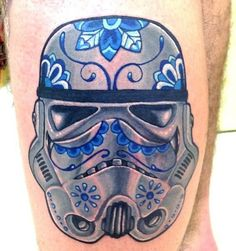 Stormtrooper Sugar Skull Inspired Tattoo