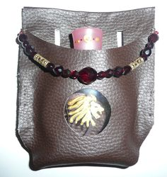 Narnia - Lucy Pevensie's healing cordial in a belt holster -- made by Vicky Tyrrell