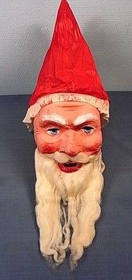1920's vintage German Santa Mask. I have one like this...really cool. Photo via Ebay