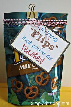 28 Pun-Tastic Teacher Gifts  I'm doing flips that your my team mate, friend, coach, kid etc