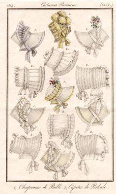 poke bonnet | Trim your Regency Bonnet - Jane Austen Centre