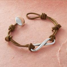 Infinity Leather Knot Bracelet Love Jamesavery I Absolutely It