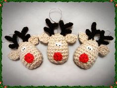 Ravelry: Reindeer Rudolf Crochet Christmas Decoration Pattern pattern by Aneta Izabela