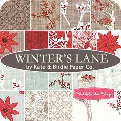 Winter's Lane Charm Pack Kate & Birdie Paper Co. for Moda Fabrics - Fat Quarter Shop- for a christmas table runner