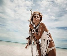 Burning man fashion Tribal outfit festival make up