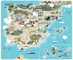 Spain: a Monocle Travel Guide / Hey    —    #mappa #travelguide #monocle #guida #spagna #basic