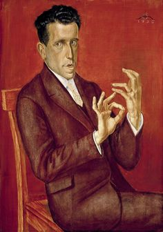 """Exhibition: 'New Objectivity: Modern German Art in the Weimar Republic, 1919-1933' at the Los Angeles County Museum of Art (LACMA). """"This is a mad, dangerous, exciting world in which these artists lived."""" http://artblart.com/2016/01/14/exhibition-new-objectivity-at-lacma/ Art work: Otto Dix (1891-1969) 'Portait of the Lawyer Hugo Simons (Porträt des Rechtsanwalts Hugo Simons)' 1925"""