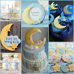 Love You To The Moon And Back Baby Shower Ideas from HotRef.com #babyshower