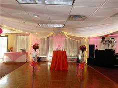 Inside ceremony area on dancefloor with Gazebo setup