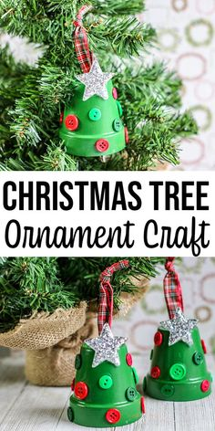 Christmas Tree Clay Pot Ornament Craft for Kids Clay Pot Christmas Trees – Lo. Christmas Tree Clay Pot Ornament Craft for Kids Clay Pot Christmas Trees – Looking for an adorable Christm Clay Crafts For Kids, Christmas Clay, Christmas Crafts For Kids To Make, Clay Pot Crafts, Christmas Ornament Crafts, Diy Christmas Gifts, Kids Christmas, Holiday Crafts, Homemade Christmas