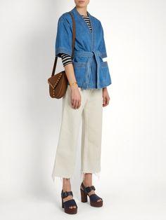 Kimono denim jacket