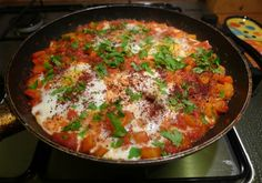 This recipe is vegetarian, it is for anyone & everyone that likes to eat! If you want to add protein, including tofu, this Shakshouka Recipe fits the bill!