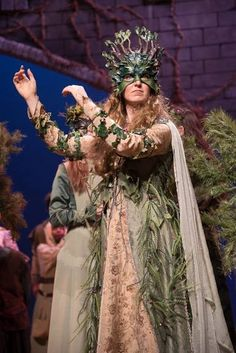 The Woodland Queen for the 2015 Washington Christmas Revels. Performed by Gwen Grastrof. Photo by Shep Ferguson.