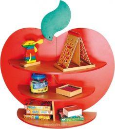 Biblioteca escolar expositor de libros Manzana