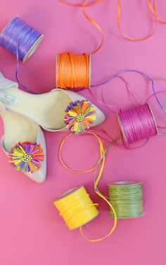 Craft My Flats: Raffia - Damask Love