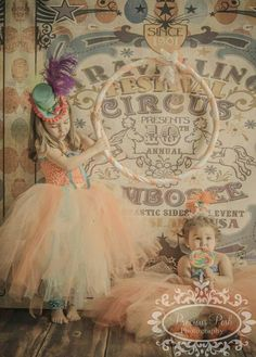 NEW ITEM 6ft x 6ft Circus Poster ---- Vinyl Photography Backdrop / Grunge Dots via Etsy