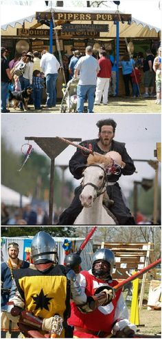 Each spring, Reaves Park in Norman, Oklahoma comes alive with the sounds of jousting, the scents of fair food and the sights of dancing maidens during the Medieval Fair. This three day event has been held annually since 1977.