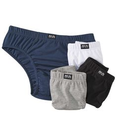 Lot de 4 Slips Confort - Réf. : T6004 #summer #travel #voyage #atlasformen #formen #discount #shopping #ootd #outfit