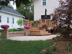 Outdoor spaces for both smaller, more quaint, or larger gatherings. The Vande Hey Company, Inc.