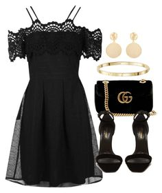 """""""Sin título #13066"""" by vany-alvarado ❤ liked on Polyvore featuring Boohoo, Gucci, Yves Saint Laurent and Mounser"""