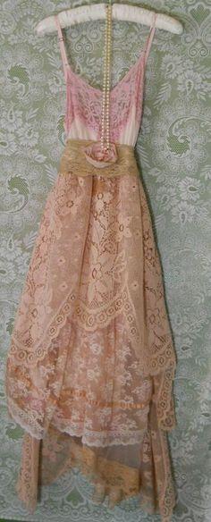 ☯☮ॐ American Hippie Bohemian Style ~ Boho lace summer dress!