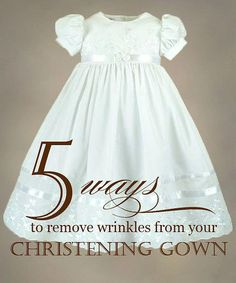 43c1b43f6 How to remove wrinkles from your christening gown. Also the best website  for Christening clothes