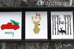 diy christmas art (a Silhouette project) jsorelle