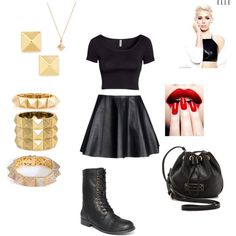 """Miley Cyrus inspired look."" by rayadane on Polyvore"