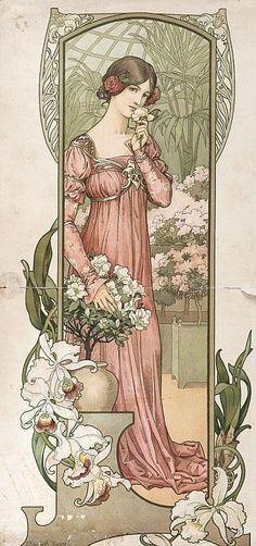 Elisabeth SONREL (1874-1953)Printemps.Affiche vers 1900.