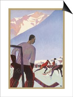 An Ice-Hockey Match in Chamonix France SwitchArt&#8482 Print at AllPosters.com