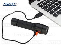 HV-FL9R USB TÖLTHETŐ ELEMLÁMPA – BetterLED - lithium akkumulátoros, mobiltelefon töltővel is tölthető Usb