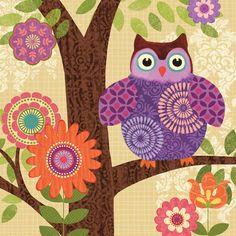 Forest Owls II by Jennifer Brinley. Canvas wrap by InGallery.com