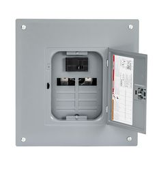 Square D by Schneider Electric Homeline 100 Amp Indoor Main Breaker Load Center with Cover (Plug-on Neutral Ready), -- Be sure to check out this awesome product. (This is an affiliate link) Electrical Code, Electrical Equipment, Circuit, Electrical Breakers, Breaker Box, Quad, Plugs, Neutral, Indoor