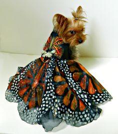 Fantastic hand painted butterfly dress by Kiki Hamann.  Information please:  info@kikihamann.com
